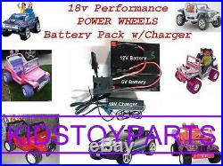 18V Volt Battery Kit Power Wheels Hurricane withcharger with $20 cash Back Option