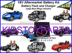 18V Volt Conversion Kit UPGRADE for 12V KID TRAX Cars/Trucks (Battery & Charger)