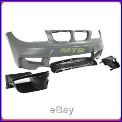 1M Style Front Bumper Conversion Kit For 08-13 BMW 1 Series E82 E88 Air Ducts