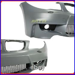 1M Style Front Bumper Kit For 2008-2013 BMW 1 Series Fog Light Pair E82 E88
