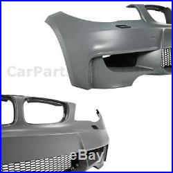 1M Style Front Bumper kit For 08-13 BMW 1 Series E82 E88 135i 128i With Air Duct