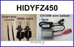 2004-2012 YAMAHA YFZ450 35w HID UPGRADE HEADLIGHT Conversion Kit YFZ450R