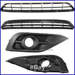 2012-2014 For Honda CR-V CRV Complete Front Lower Bumper Kit JDM Style Fog Lamps