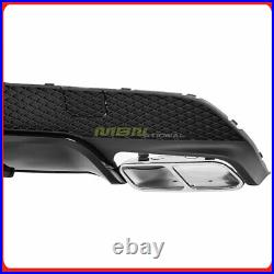 2014-2019 CLA-Class AG Style Rear Bumper Diffuser Spoiler Splitter Air Dam Black