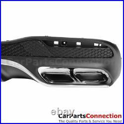 2016-2019 W166 GLE-Class GLE 63 AMG Style Rear Bumper Diffuser Sport Pkg Chrome
