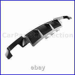 Black Rear Bumper Diffuser For BMW M5 2011-2016 F10 Shark Fin Style