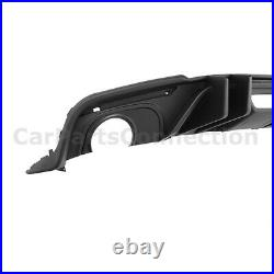 Black Rear Diffuser For Ford Mustang 18-Up Coupe Convertible Big Fin Style