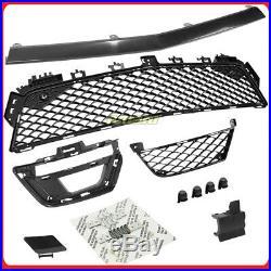 C63 Style Front Fascia Bumper Cover Kit w DRL 12-14 W204 2012-2015 C204 4Dr 2Dr