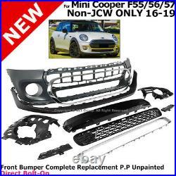 Complete Front Bumper Kit 2014-2019 Mini Cooper Convertible Hatchback Hardtop