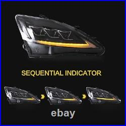 Customized CLEAR FULL LED Headlights Headlamps for 2006-2012 IS250 IS350 IS300