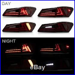 Customized RED CLEAR LED Taillights for 2006-2012 Lexus IS 220/250/350