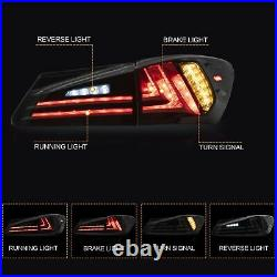 Customized SMOKED LED Taillights Rearlamps for 2006-2012 Lexus IS 220/250/350