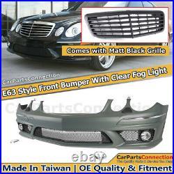 E63 Style Front Bumper For Mercedes-Benz E-Class 2003-2009 W211 Pre-LCI to LCI