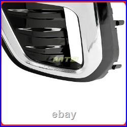 Foglamp Pair LED Foglights For Subaru Forester 19-20+ Smoke Lens Touring Style