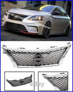 For 13-15 Nissan Sentra Sedan JDM NISM Style Front Hood Upper Bumper Grille Kit
