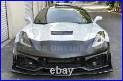 For 14-19 Corvette C7 ZR1 Style Front Bumper Cover Grille Lower Lip Splitter