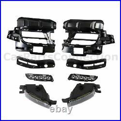 For 14-20 Dodge Durango Front Bumper Cover SRT Style with LED Fog Lights Bolt-on