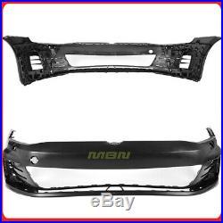 For 15-17 VW Golf MK7 VII GTI Style Front Bumper Cover LED Fog DRL Mesh Grille