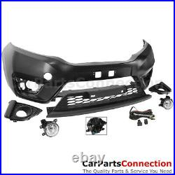 Front Bumper 15-17 For Honda Fit GK5 Factory Style Fascia Kit Fog Lights Harness