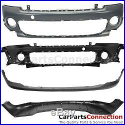 Front Bumper Complete Kit Mini Cooper 2011-2015 R55 R56 R58 R59 Grille Chrome