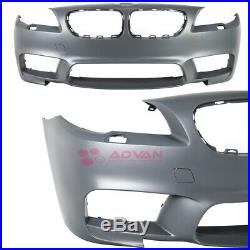 Front Bumper Cover Gray Kit M5 Style For BMW 5-Series 14-16 LCI F10 Sedan