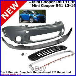 Front Bumper Fascia Kit Mini Cooper 2011-2016 R60 R61 Valance Countryman Paceman