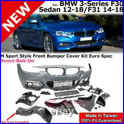 Front Bumper Kit M Sport M-Tech Style For 12-18 BMW 3-Series F30 Sedan F31 Wagon