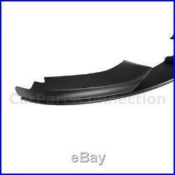 Front Bumper Lip Spoiler For 14-19 BMW 4-Series MP Style F32 F33 F36 Matte Black