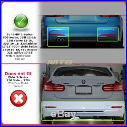 Glossy Black Diffuser For BMW 3 Series 12-18 F30 MP Style With M Sport Bumper