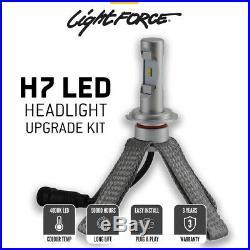 Lightforce LED Headlight H7 Bulbs 4000K Upgrade Conversion Kit Fanless Heatsink