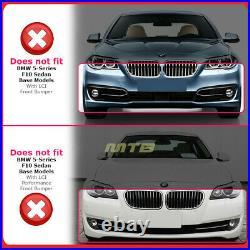 Lower Front Bumper Lip Spoiler For 11-16 BMW 5-Series MP Style Sedan Gloss Black