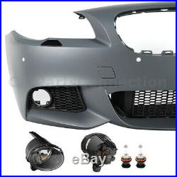 M Sport Style Front Bumper Cover With PDC For BMW 11-13 5 Series F10 Fog Lamps