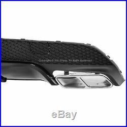 MB CLA-Class C117 W117 2014-2019 CLA45 AMG Style Rear Bumper Aero Diffuser Black