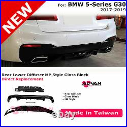 MP Performance Style Black Rear Bumper Diffuser For BMW 5-Series G30 Sedan 17-19