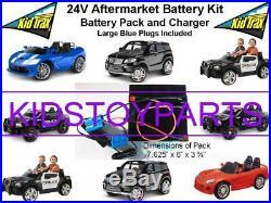 NEW! 24V Conversion Kit UPGRADE for 12V KID TRAX Cars/Trucks LONG RUN TIME