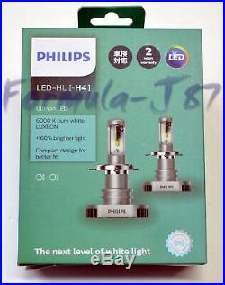Philips Ultinon LED Kit White 6000K H4 Two Bulbs Fog Light High Beam Upgrade OE