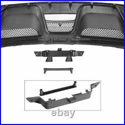 Rear Bumper Diffuser For 2015-2017 Ford Mustang GT350 Valance Body Muffler Tips