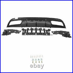Rear Bumper Diffuser Quad Muffler Tip Tailpipe Black For MB W205 15-19 C-Class