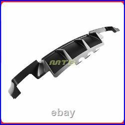 Rear Diffuser For BMW M5 11 12 13 14 15 16 F10 Black 2 Shark Fins Lower Valance