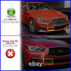 Red Sport Style Front Bumper Cover For 18-20 Infiniti Q50 Grey Foglight Covers